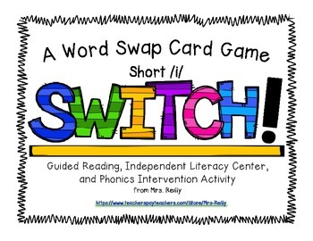 Onset/Rime Card Game - SWITCH Short/i/