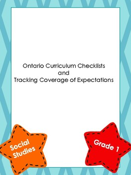 Ont Curriculum Checklists & Track Coverage of Social Studies Expectations Gr 1