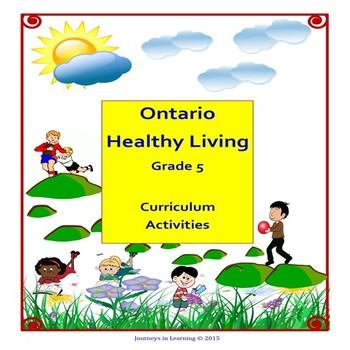 Ontario Healthy Living Grade 5 Curriculum Activities (Revised)