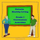 Ontario 2015 Healthy Living Grade 7 Curriculum Activities