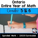 5/6 Comprehensive Math Bundle (New Ontario Math Curriculum 2020)