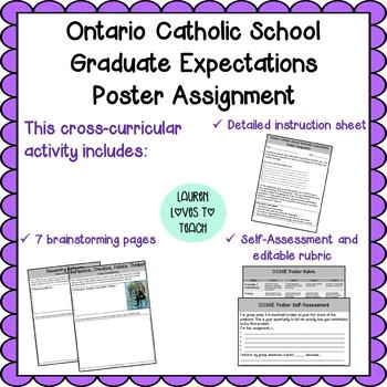 Ontario Catholic School Graduate Expectations Poster Assignment