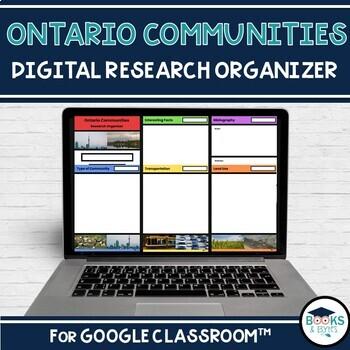 Ontario Communities Digital Research Organizer for Google Classroom