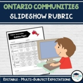 Ontario Communities - Group PowerPoint Project Rubric - Grade 3