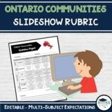 Ontario Communities Slideshow Rubric