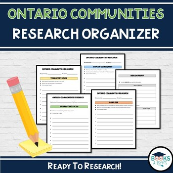 Ontario Communities Research Organizer - Grade 3 Ontario