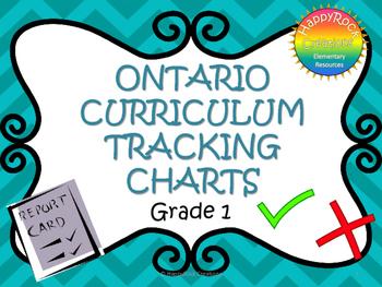 Ontario Curriculum Assessment Charts Grade 1