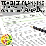 Ontario Curriculum Checklist Grade 1 Language Arts