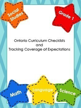 BUNDLE Ontario Curriculum Checklists & Tracking Coverage of Expectations Grade 1