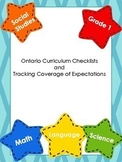 BUNDLE Ontario Curriculum Checklists & Tracking Coverage o