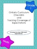 Ontario Curriculum Checklists and  Tracking Coverage of Ma