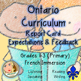 Ontario Curriculum Expectations Checklist - Primary French
