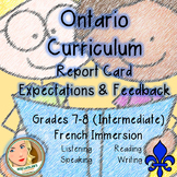 Ontario Curriculum Expectations Checklist - Intermediate F