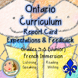 Ontario Curriculum Expectations Checklist - Junior French Immersion (Language)