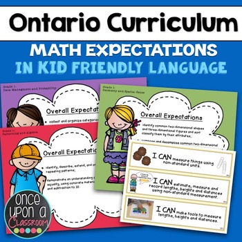 """Ontario Curriculum - Grade 1 - """"I Can"""" Posters & Specific"""
