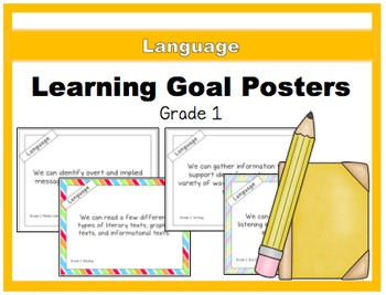 {Grade 1} Language Learning Goal Posters