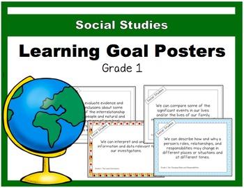 {Grade 1} Social Studies Learning Goal Posters