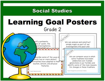 {Grade 2} Social Studies Learning Goal Posters