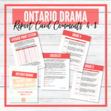 Ontario DRAMA Report Card Comment Builder - Grades 4 to 8