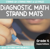 Ontario Diagnostic Math Strand Mats {Based on Grade 4 Expectations}
