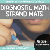 Ontario Diagnostic Math Strand Mats {Based on Grade 1 Expectations}