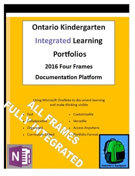 Ontario Kindergarten Integrated Four Frames Learning Portfolio Templates