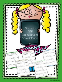 OLD Ontario Expectations (FDK) - Focused At A Glance Tracking Sheets