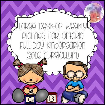 Ontario FDK Weekly Teacher Planner (Tabloid Size!)