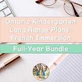 Ontario French Immersion Kindergarten Long Range Plans