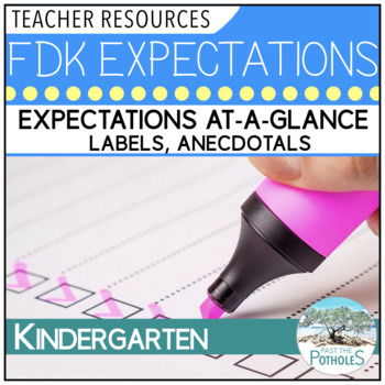Ontario Full Day Kindergarten - Expectations At a Glance,