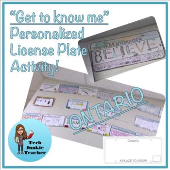 Ontario Get to Know Me License Plate Activity