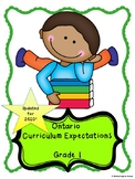 Ontario Grade 1 Curriculum Expectations Checklist