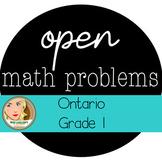 Ontario Grade 1 Open Math Problems