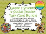 Ontario Grade 2 Social Studies and Science Task Card Bundle