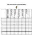 Ontario Grade 2 oral communication Checklist