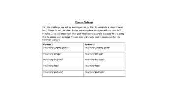 Ontario Grade 3/4 Fitness Self Assessment and Lesson