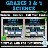 Ontario - Grade 3 & 4 Science Units - FULL YEAR BUNDLE