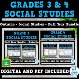 Ontario - Grade 3 & 4 Social Studies - FULL YEAR BUNDLE