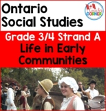 Ontario Grade 3 4 Strand A Social Studies   Life in Early