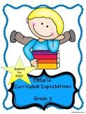Ontario Grade 3 Curriculum Expectations Checklist