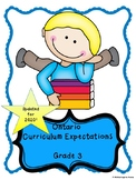 Ontario Grade 3 Curriculum Expectations Checklist