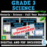 Ontario Grade 3 Science Bundle: Plants, Structures, Forces