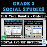 Ontario - Grade 3 - Social Studies - FULL YEAR BUNDLE