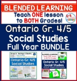 Ontario Grade 4/5 Social Studies Full Year BUNDLE