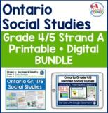 Ontario Grade 4 5 Social Studies:  Strand A Printable + Di