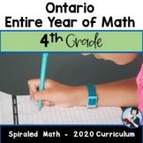 4 Comprehensive Math Bundle (NEW Ontario 2020 Curriculum)