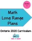 Ontario Grade 4  Math Long Range Plans (2020 Curriculum)