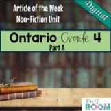Ontario Grade 4 Non-Fiction Reading Articles Animal Adapta