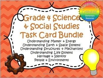 Ontario Grade 4 Social Studies and Science Task Card Bundle