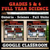 Ontario - Grade 5 & 6 Science Units - FULL YEAR BUNDLE - GOOGLE CLASSROOM